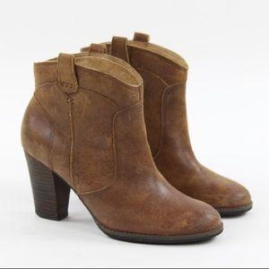Indigo By Clarks Heath Harrier Cognac Ankle Boots
